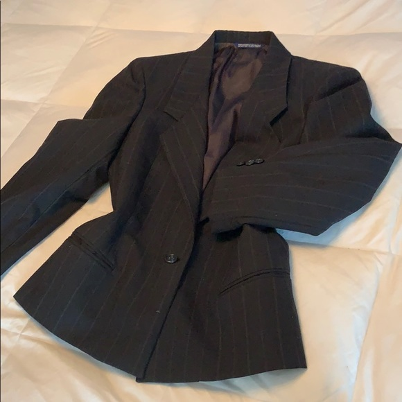 Austin Reed Jackets Coats Austin Reed Navy Pinstriped Jacket Size 4 Poshmark